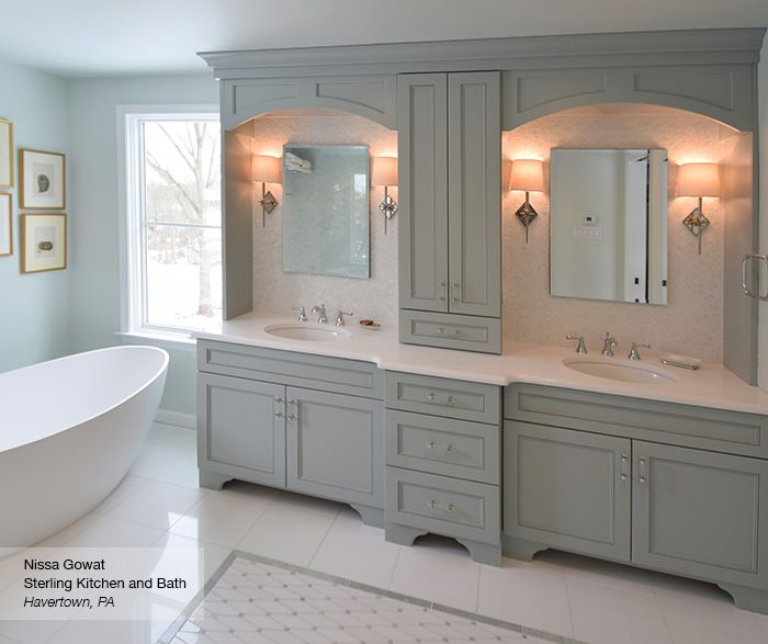 Master Bath Cabinets Omega Cabinetry C Kitchen Ideas Pinterest - Bathroom remodeling havertown pa