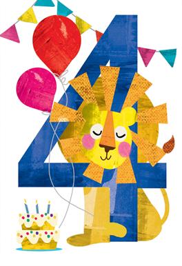 Four You Birthday Card Free Greetings Island Happy Birthday Kids Happy 4th Birthday Birthday Greetings