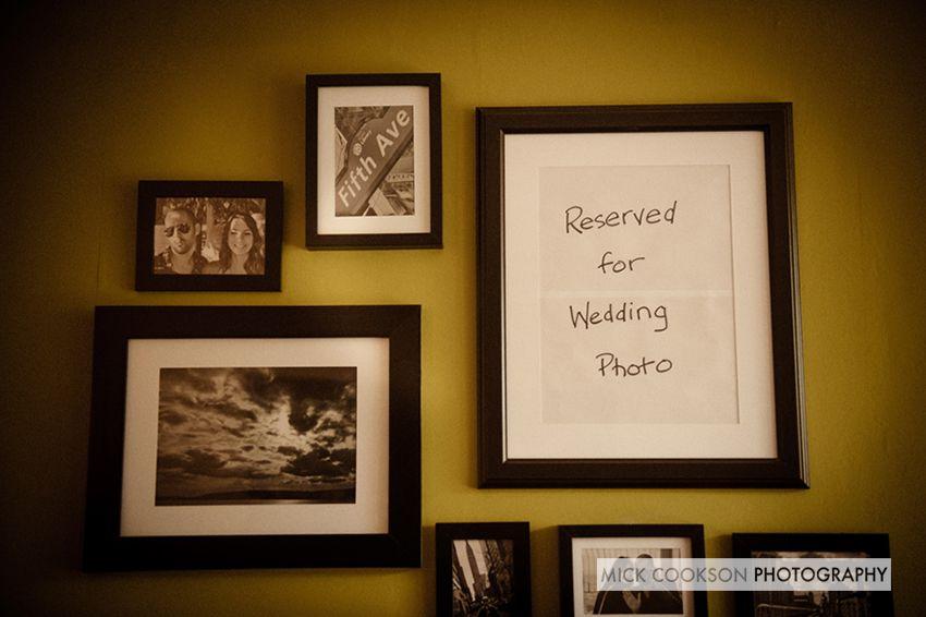 Wedding photo frame - reserved