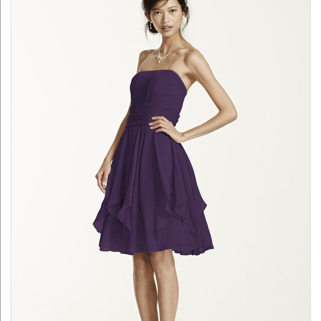 Short purple bridesmaid dress worn once products