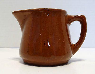 Vintage Primitive Brown Glaze Redware Creamer