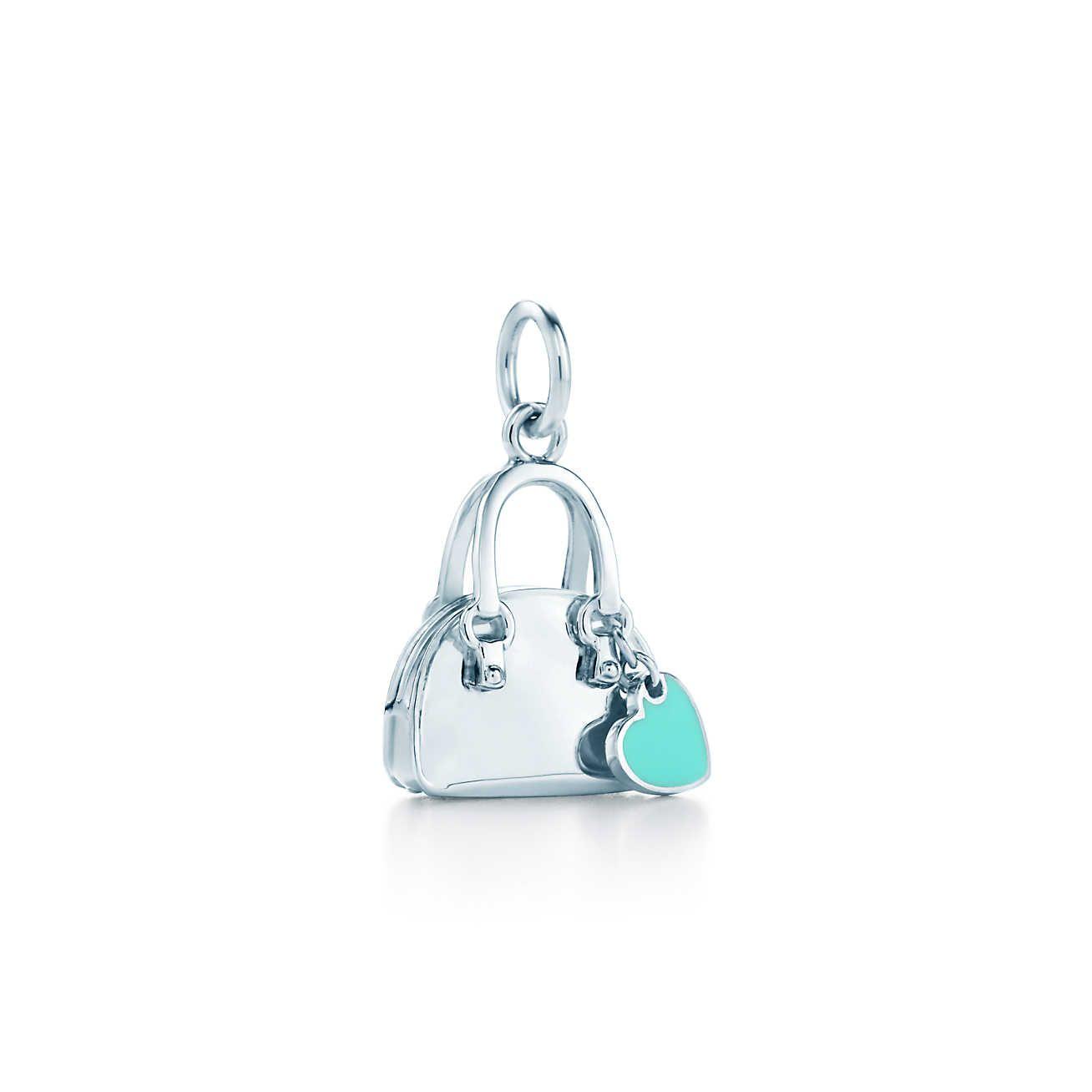 Handbag Charm In Sterling Silver With Tiffany Blue Enamel Finish Co
