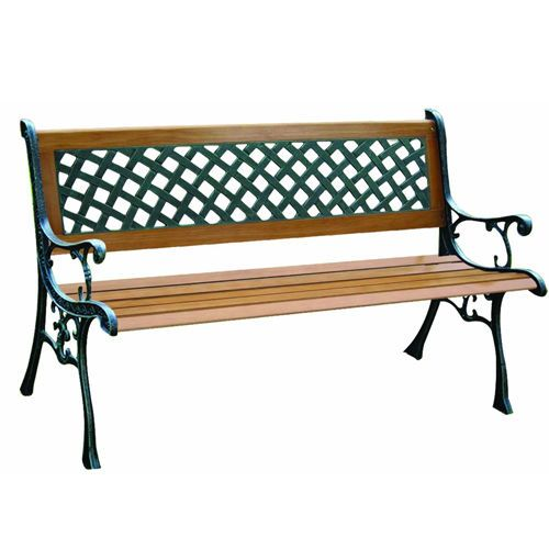 Garden Bench 3 Seater Wooden Cast Iron Leg Outdoor Patio Furniture New Park Iron Bench Cast Iron Bench Garden Bench