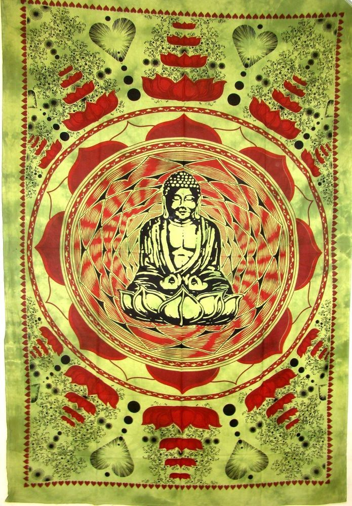 Lotus Buddha Hippy Indian Tapestry Wall Hanging Bedspread Hippy ...