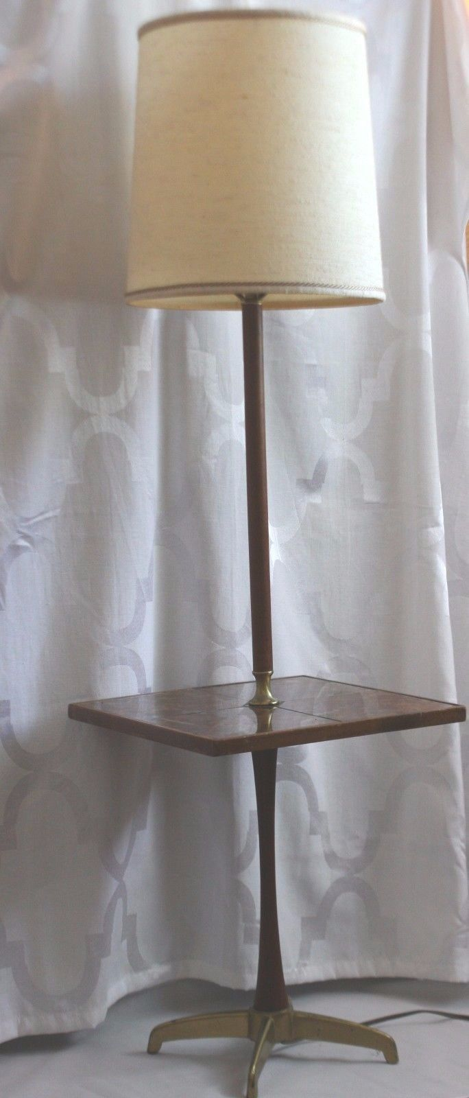 Mid Century Modern Georges Briard Style Side Table Electric Floor ...