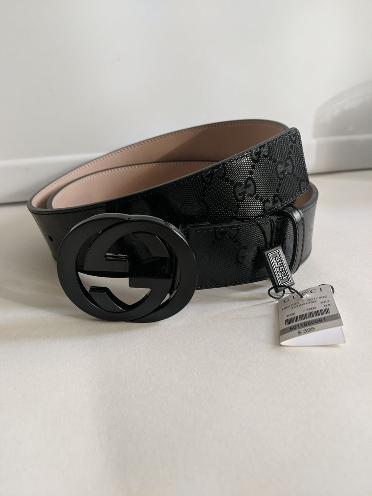 799f0c753a4 Gucci Black Imprime Mens Belt fits pant size 41-45 NWT  fashion  clothing   shoes  accessories  mensaccessories  belts (ebay link)