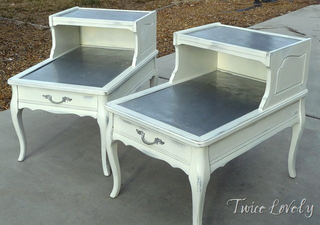 White & Silver Vintage Side Table | MESAS | Pinterest | Mesas ...