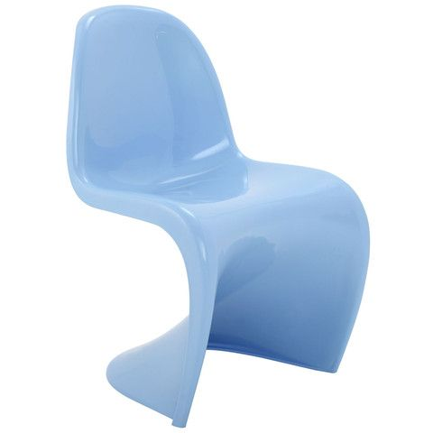 Wavy Blue Plastic Dining Chair Modern Dining Side Chairs Plastic Dining Chairs Side Chairs Dining