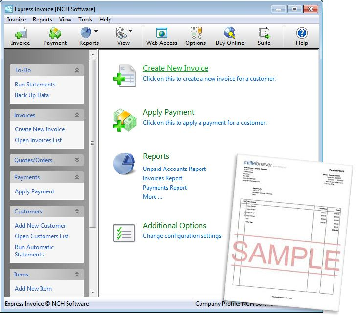 Express Invoice Invoicing Software-The easiest and most complete - how to create invoices