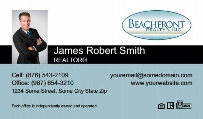 Beachfront Realty Business Cards Bri Bc 029 With Photo