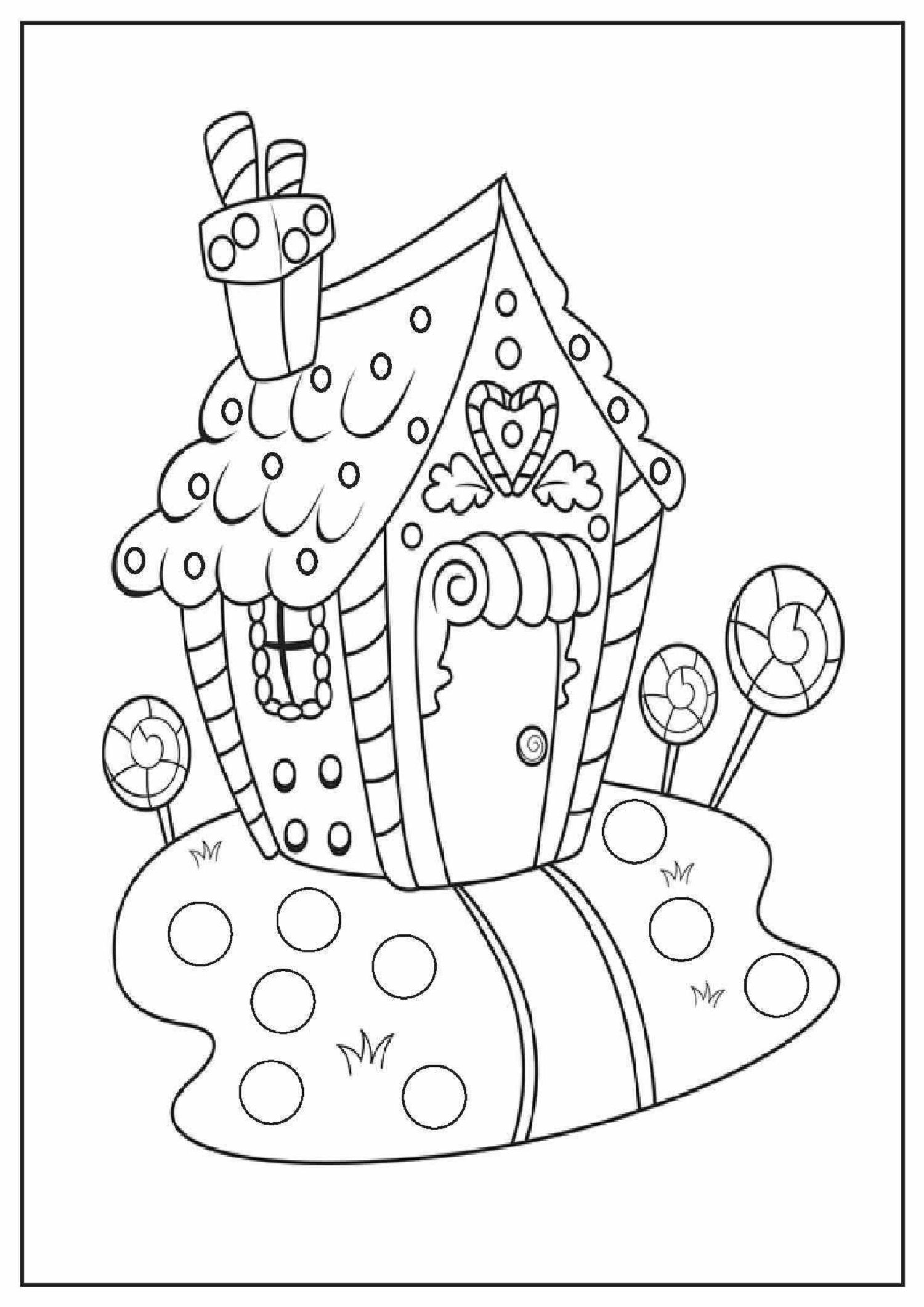 Colouring In Gingerbread House Christmas Activities For Kids Fun
