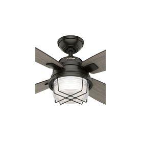 Hunter Ivy Creek 52 In Noble Bronze Indoor Outdoor Ceiling Fan With Light Kit And Remote 4 Blade Lowes Com Ceiling Fan With Light Ceiling Fan Outdoor Ceiling Fans