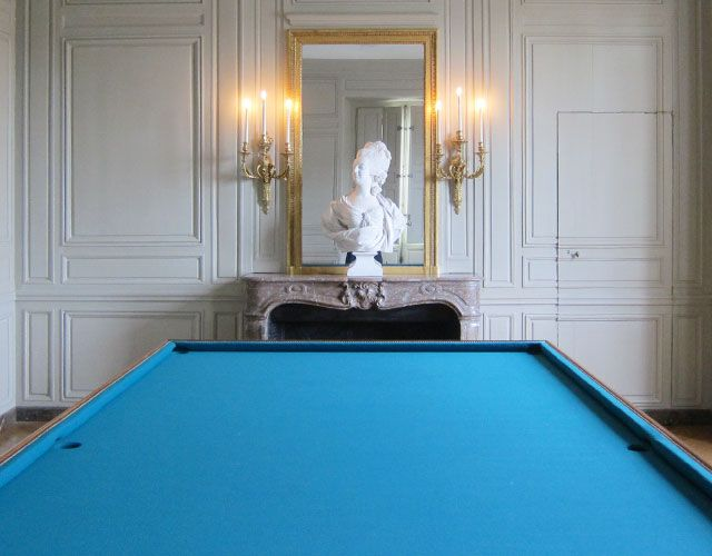 Blue Pool Table A Real Billiard Table Where Are The 3