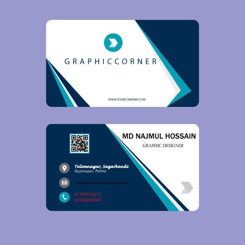 Najmuldesigner I Will Do Professional Business Card Design For 5 On Fiverr Com Business Card Design Business Card Template Design Professional Business Card Design