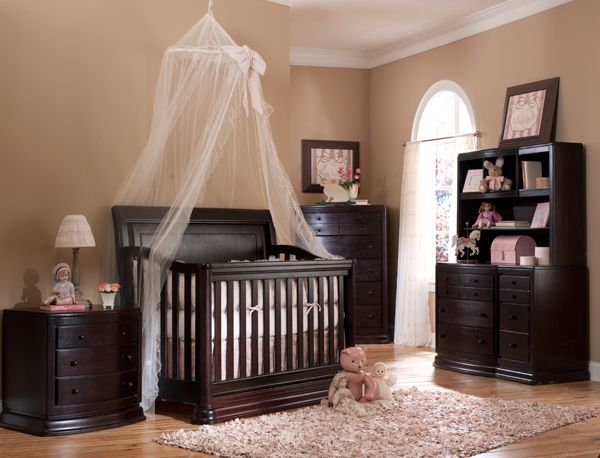 Found The Crib Dark Wood Nursery Furniture Sets