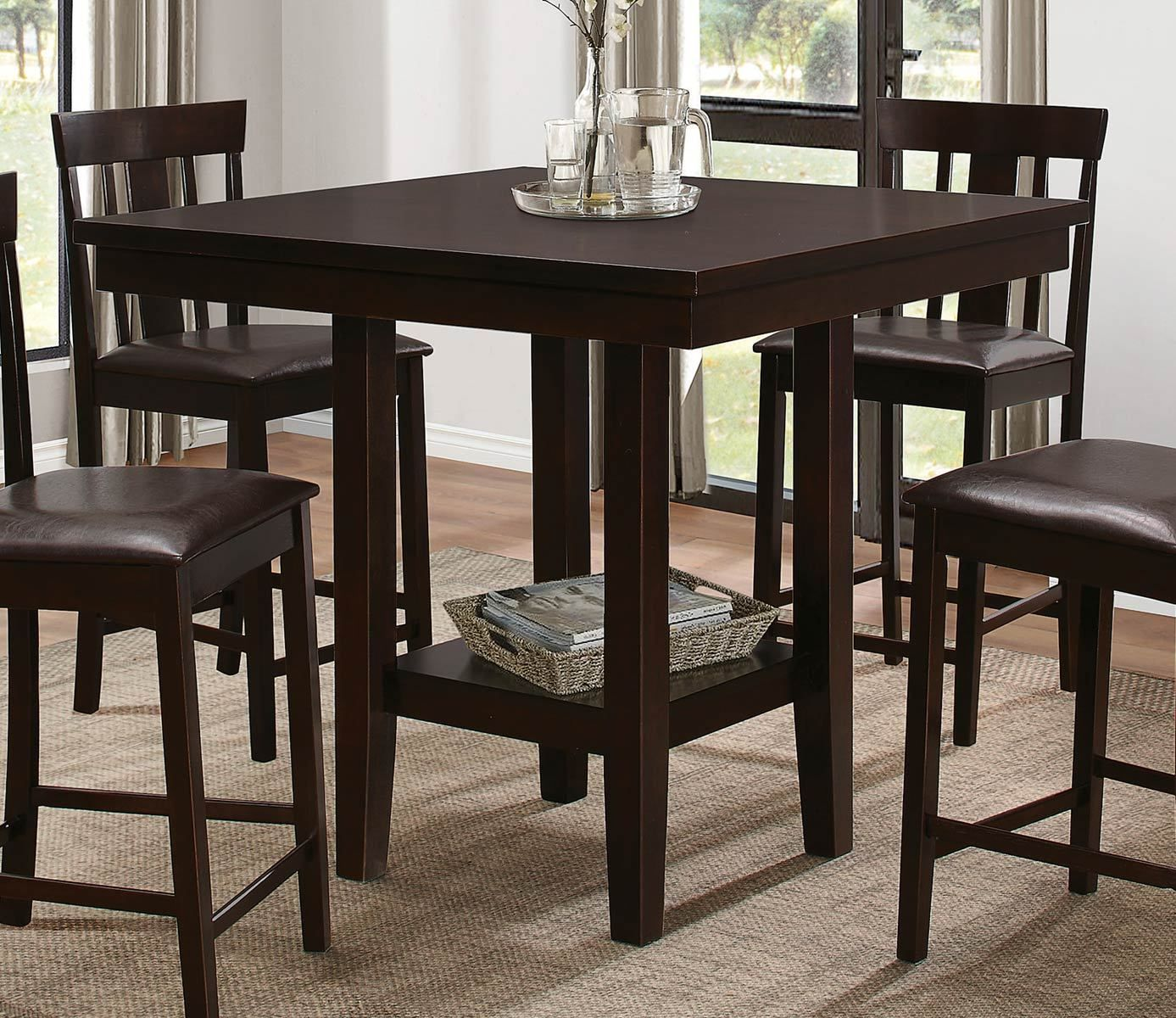 5460 36 Diego Casual Versatile Espresso Counter Height Dining