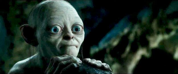 When you have to listen to stories about your crazy friend's love life at brunch. | 26 Gollum Reaction Faces Every Twentysomething Needs