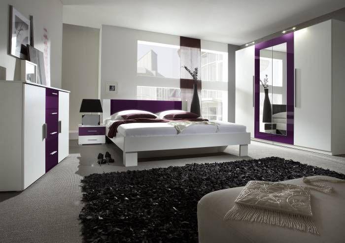 Posteľné návliečky Greno Vyšívaný satén Violetta Fialová spálňa - schlafzimmer beige lila
