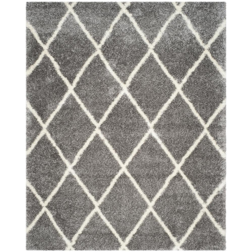 Montreal Shag Gray/Ivory 8 ft. 6 in. x 12 ft. Area Rug