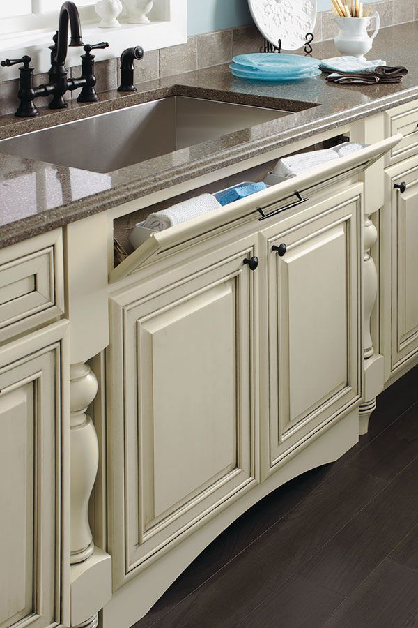 Diamond At Lowe S Cabinets Sink Base With Tilt Out Trays