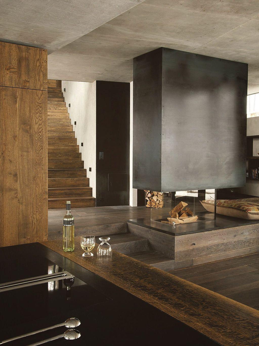 cotemaison un chalet moderne 4 chalet pinterest haus und wohnen wohnzimmer und einrichtung. Black Bedroom Furniture Sets. Home Design Ideas