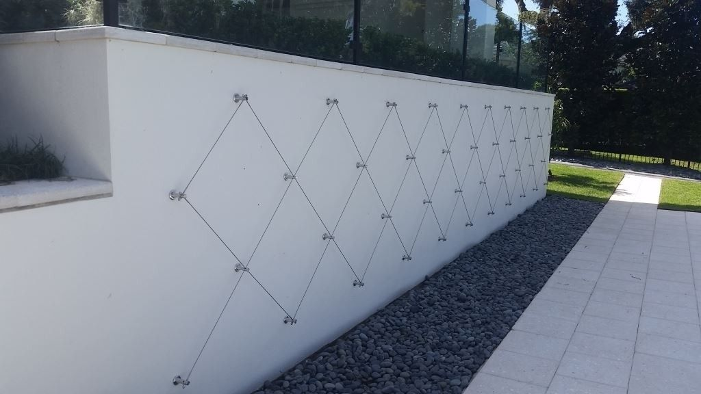 Green Wall Standoff System - Stainless Steel Cable Trellis Kit