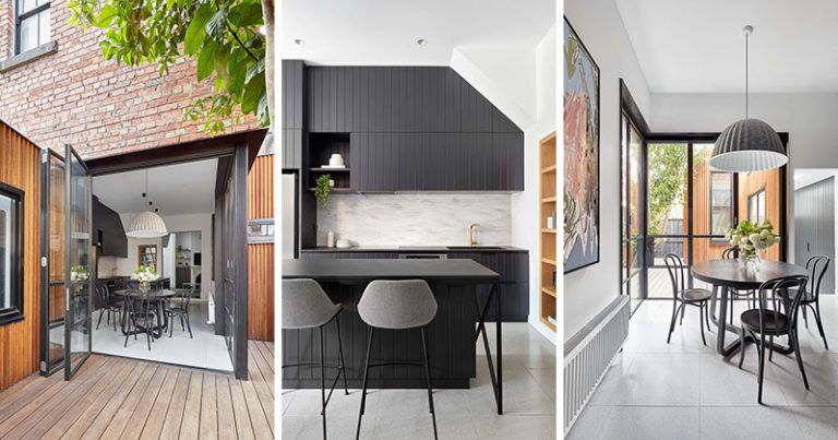 This Victorian Terrace Received A Modern Renovation And A New Wood Clad Addition