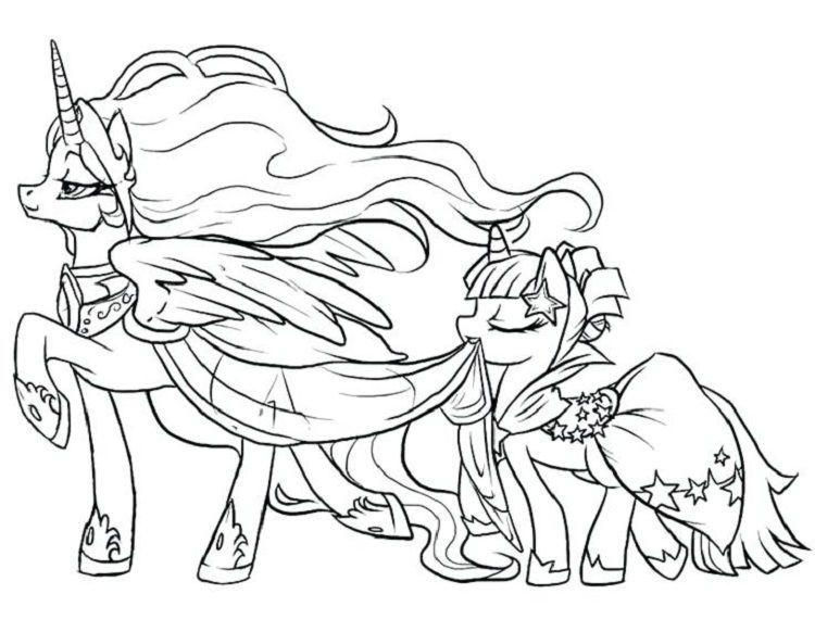 My Little Pony Unicorn Coloring Pages Malvorlagen pferde