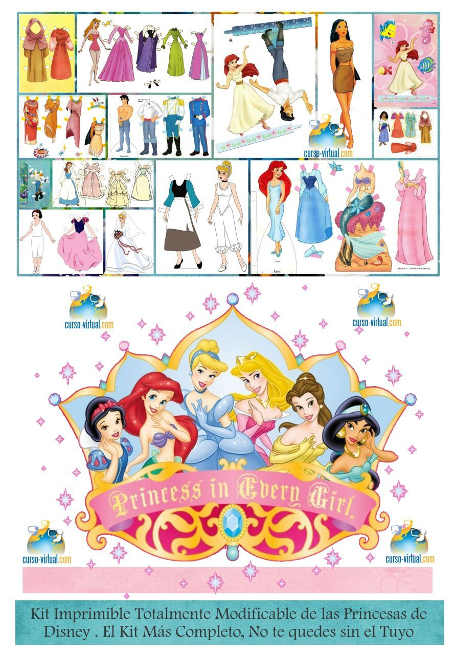 Kit Imprimible Princesas Disney | Proyectos que debo intentar ...