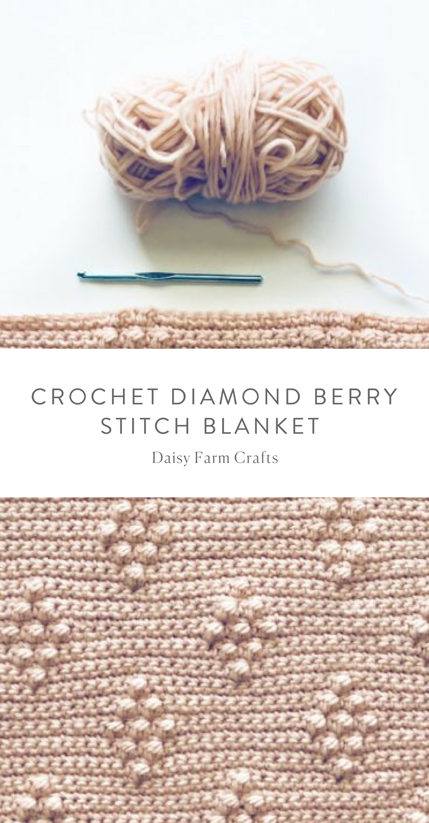 Free Pattern Crochet Diamond Berry Stitch Blanket Baby