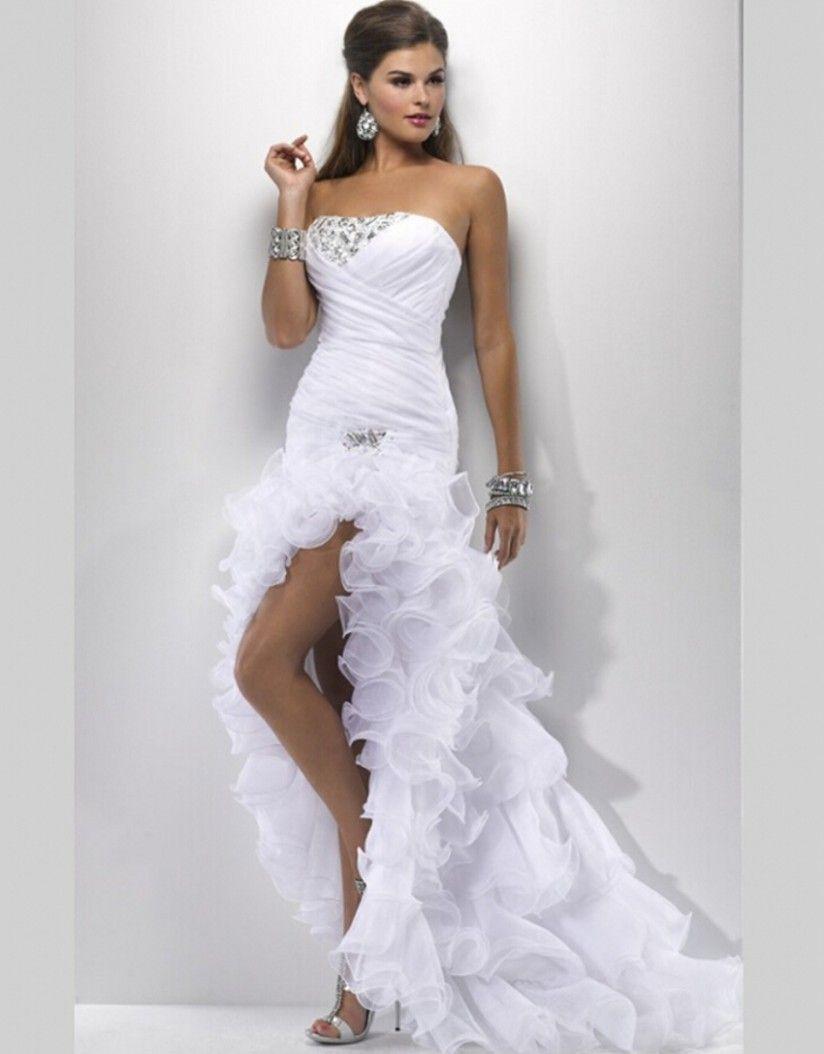 Elegant Wedding Dress Short Prom