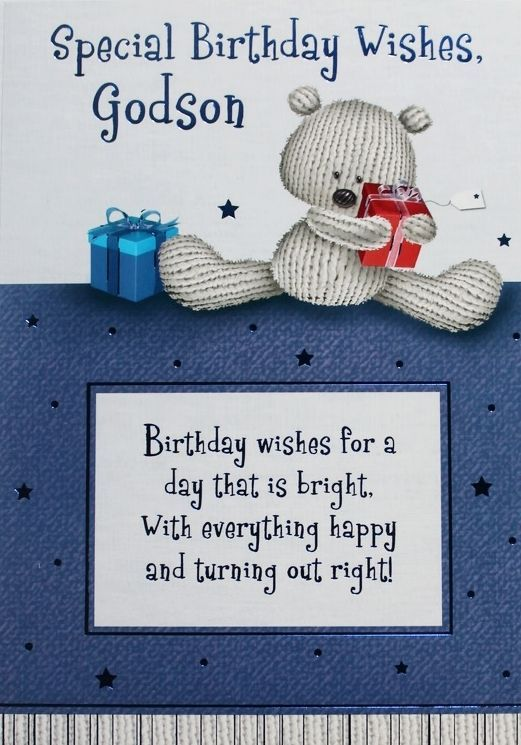 Special birthday wishes godson greeting card teddy bear presents special birthday wishes godson greeting card teddy bear presents theme new m4hsunfo