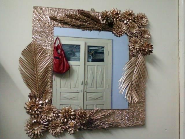 12+ Flower mirror wall decor ideas