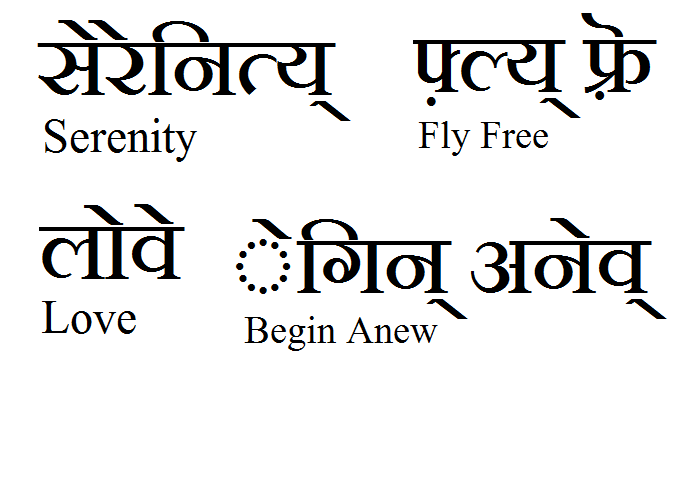 Some Words I Would Like Tattooed But In Sanskrit You Can Use The Link To Type In Your Own Words And Theyll Translate To Sanskrit