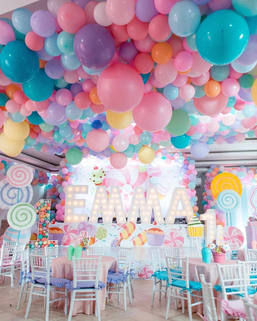 Decoration For A Candyland Party Source Bs Eventos Ecumple Partydecor Decor I In 2020 Candy Land Birthday Party Candyland Party Birthday Party Themes