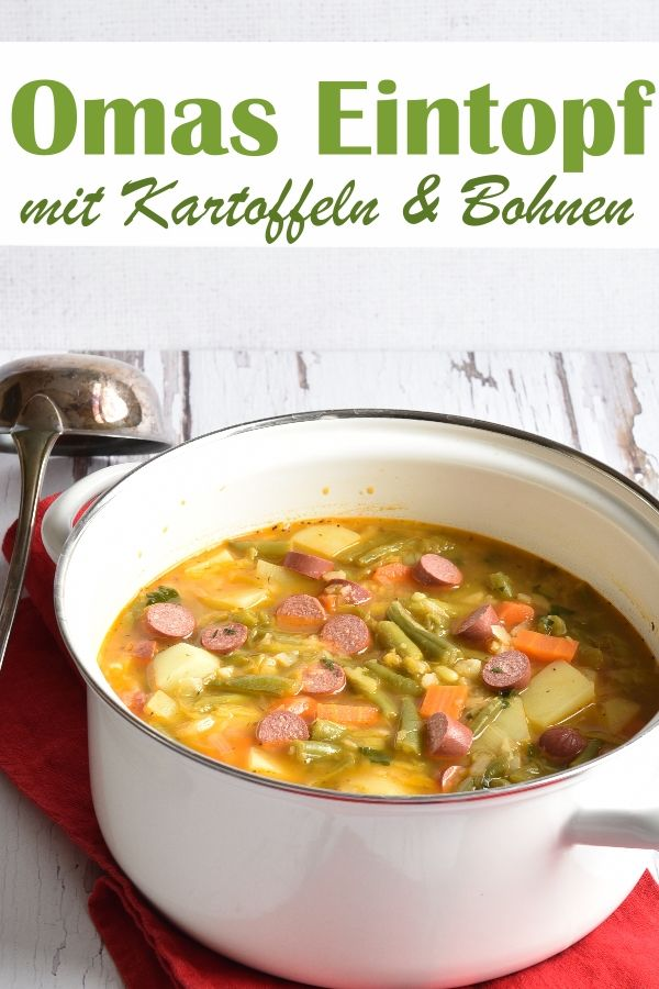 Photo of Omas deftiger Eintopf. Als vegetarische Version.
