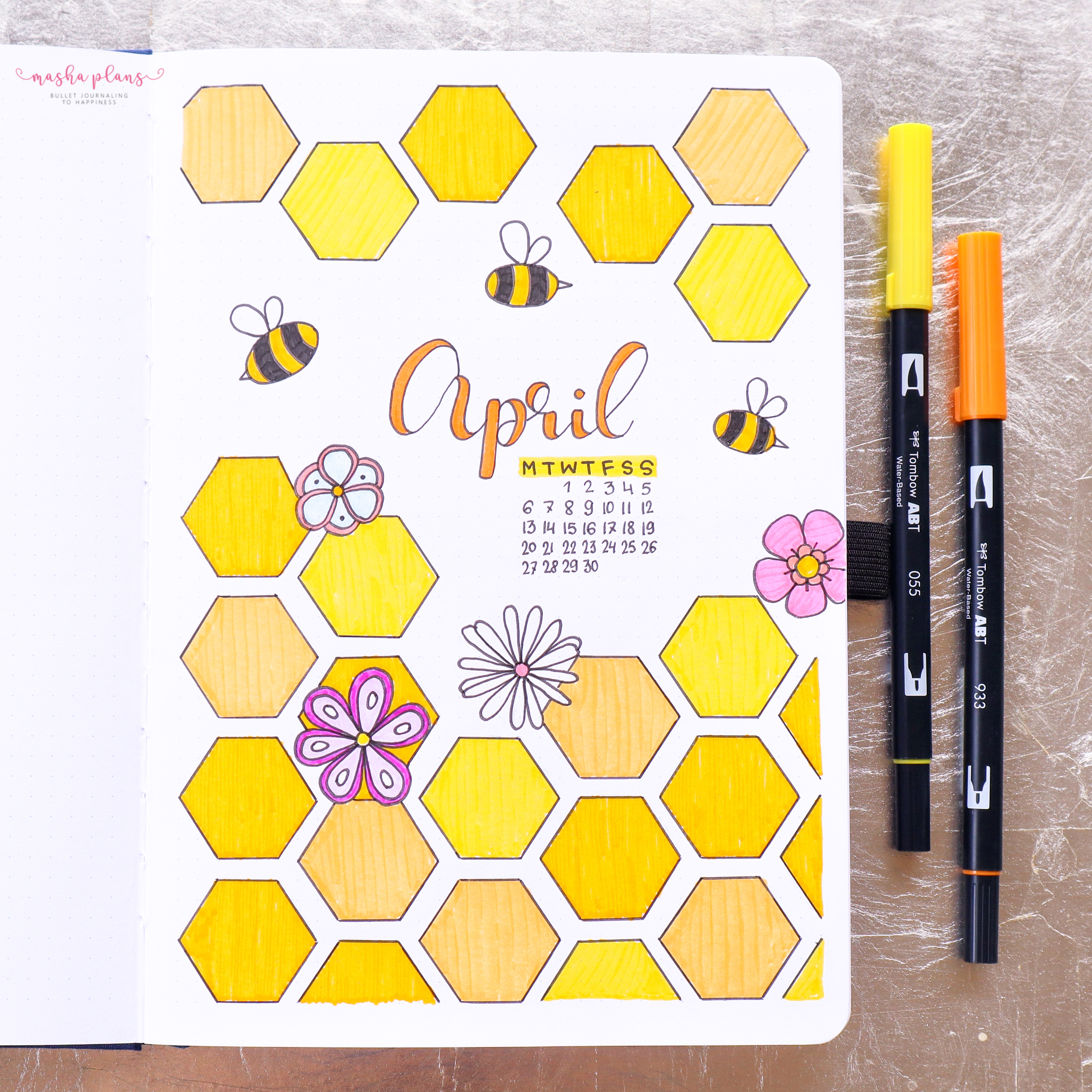 April Plan With Me - Bees Theme