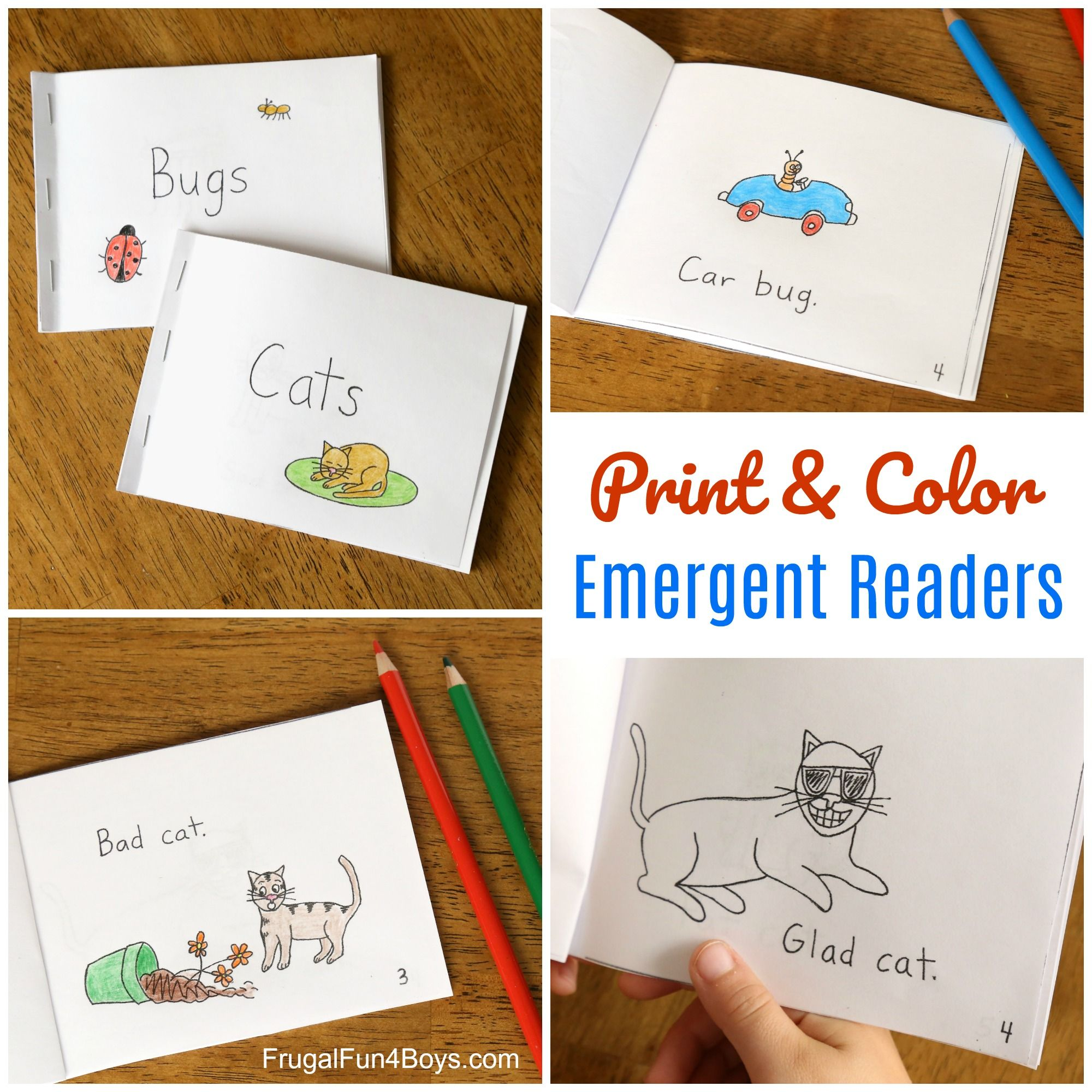 Beginner Free Printable Phonics Books
