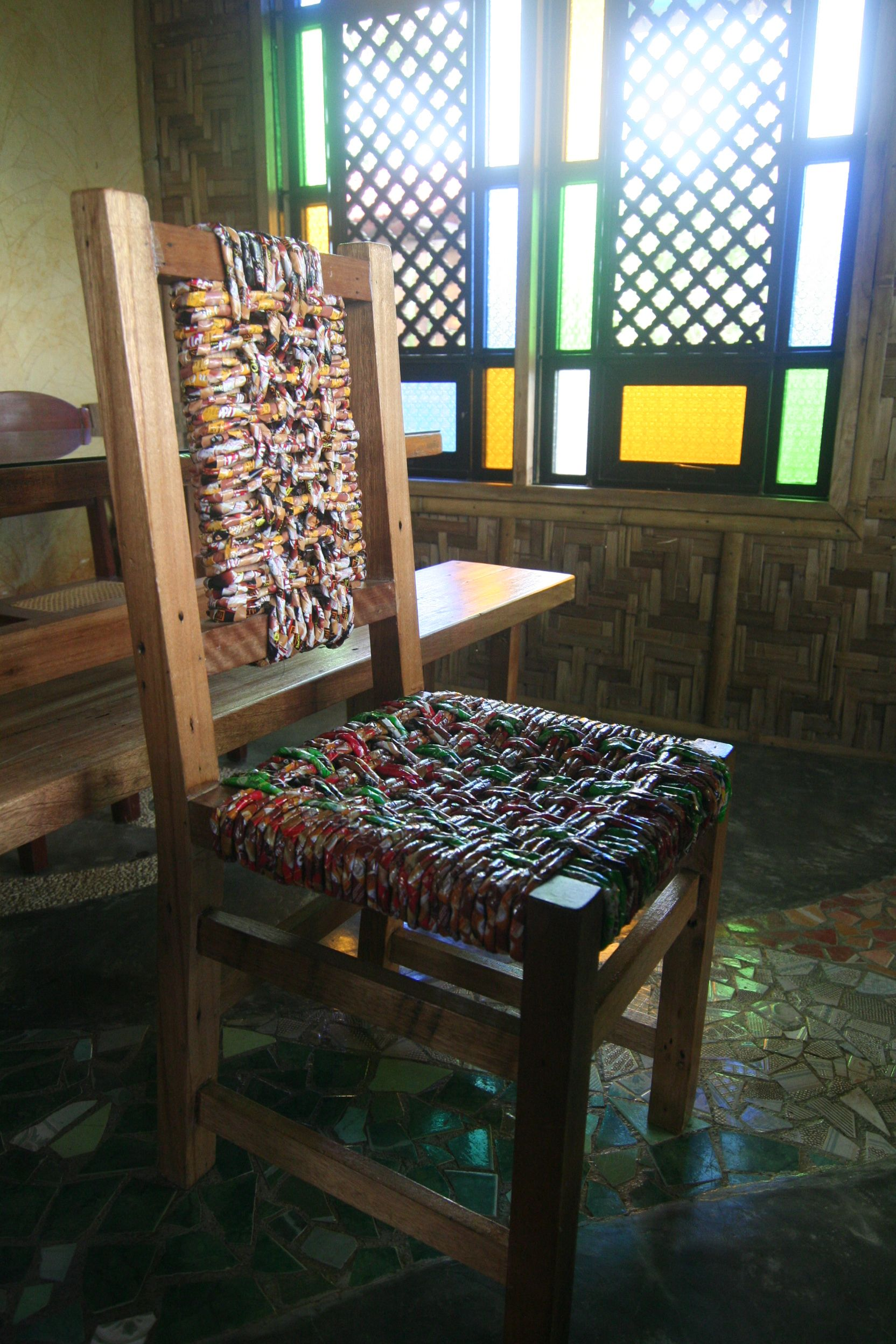 Recycled paper and wood chair called TWINE by Filipino designer