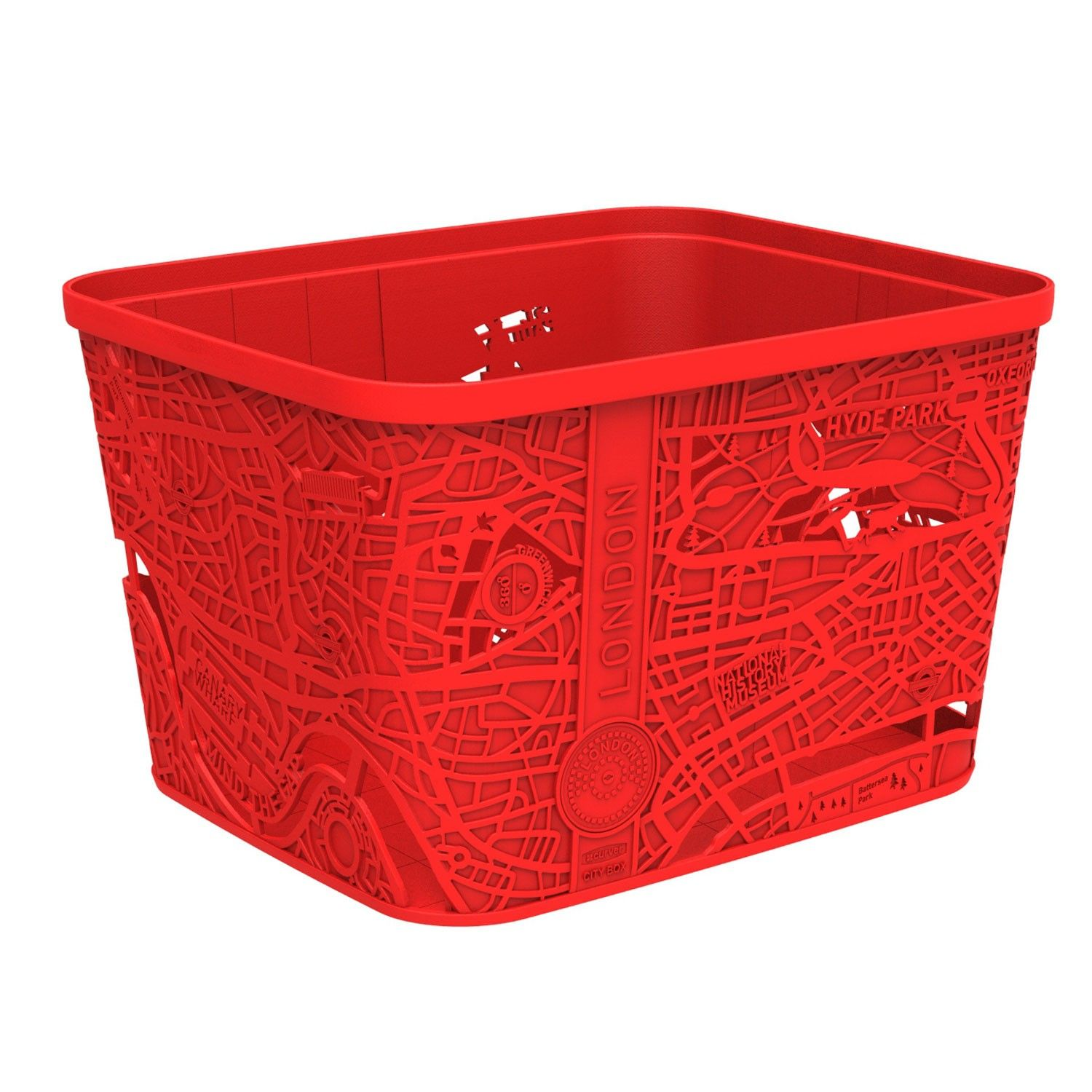 Curver City Of London Map Storage Box In Red | The Range