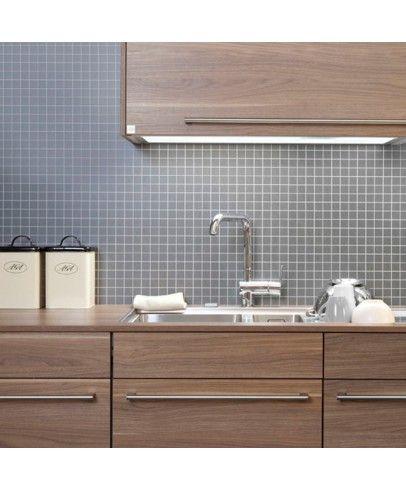 87 50 k chenspiegel berryalloc kitchen wall f r k chenw nde grauer schiefer 3x3cm mosaik - Kuchenspiegel laminat ...