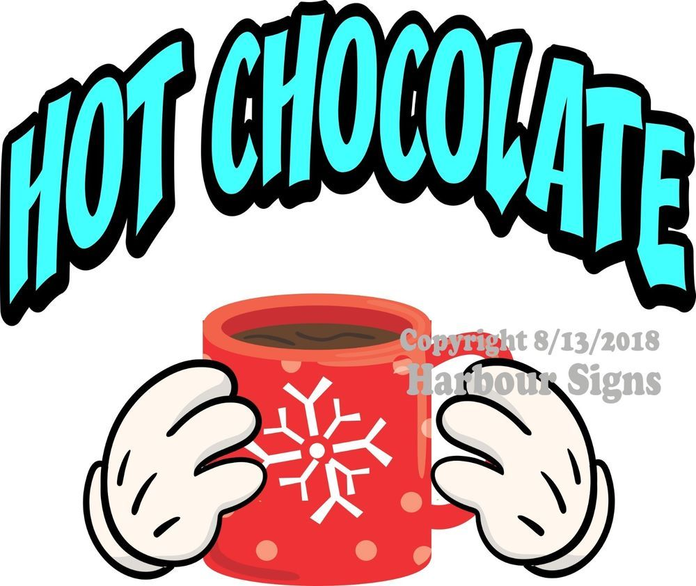 Food Truck Concession Sticker Choose Your Size Coffee Hot Chocolate DECAL