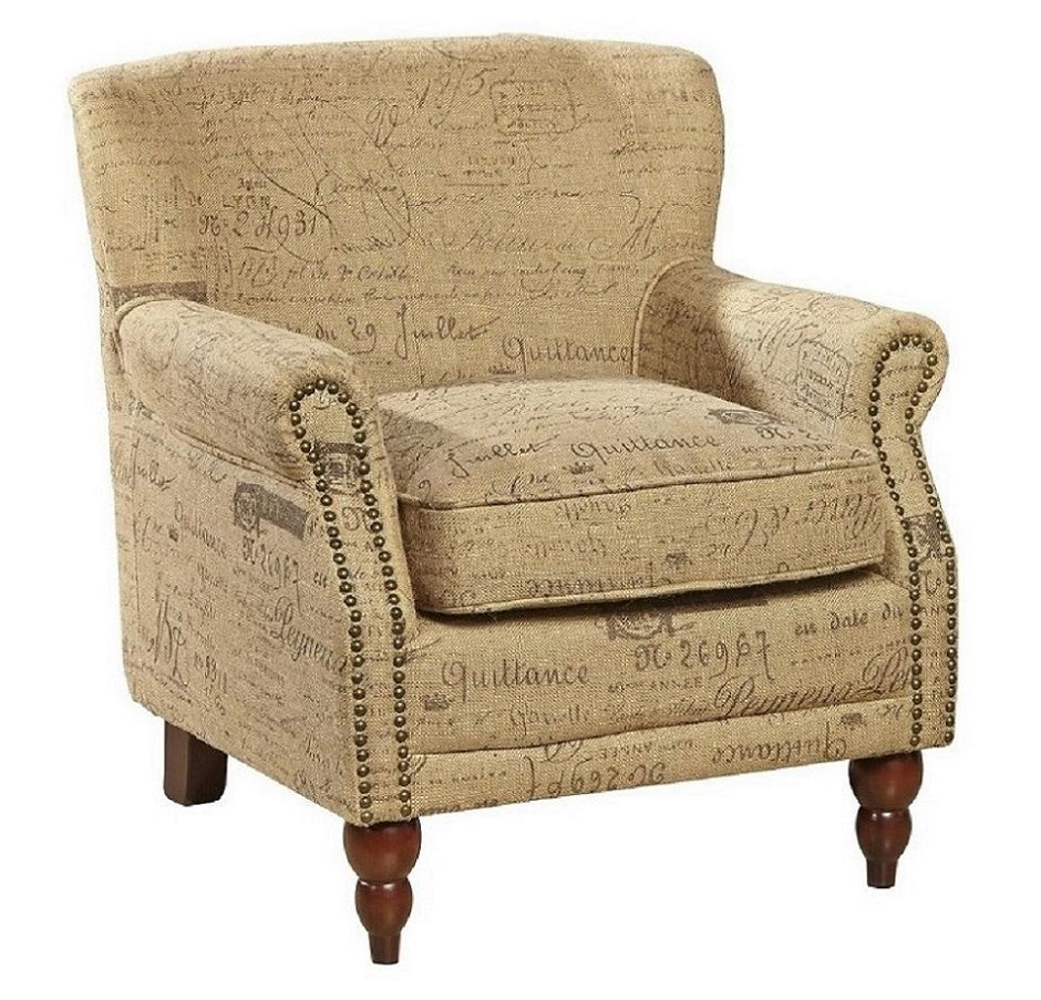 French Script Arm Chair http://www.enhancingyourhabitat ...