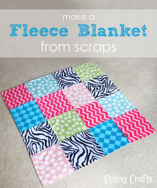 How to Make Fleece Blankets from Scraps  dcada23eb