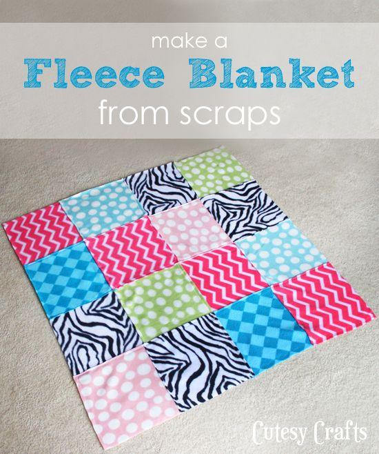 How to make easy fleece baby blankets