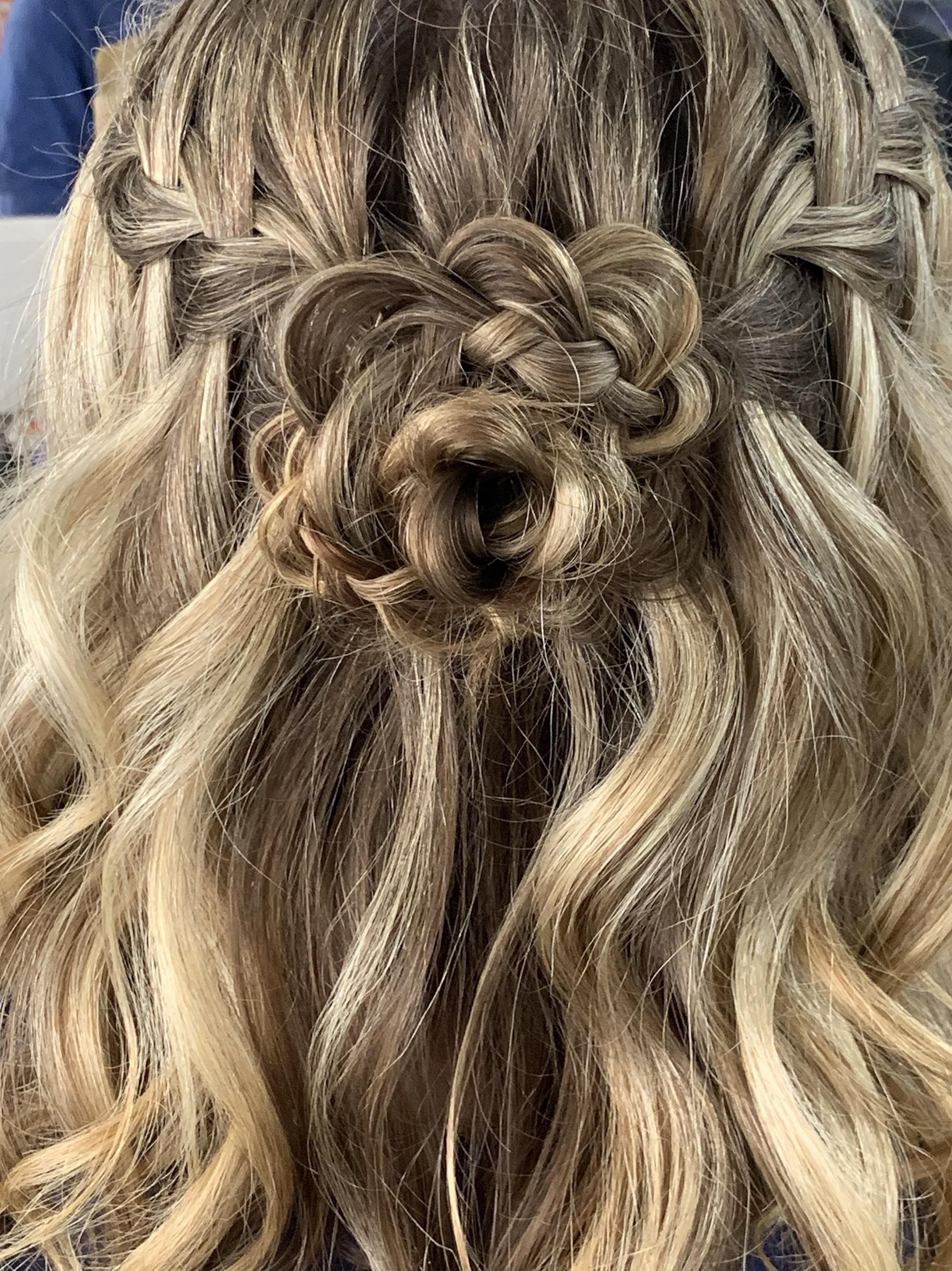 Special Occasions Up Dos 65 Braids With Flower Special Occasion Hairstyles Salon Software Special Occasion Makeup