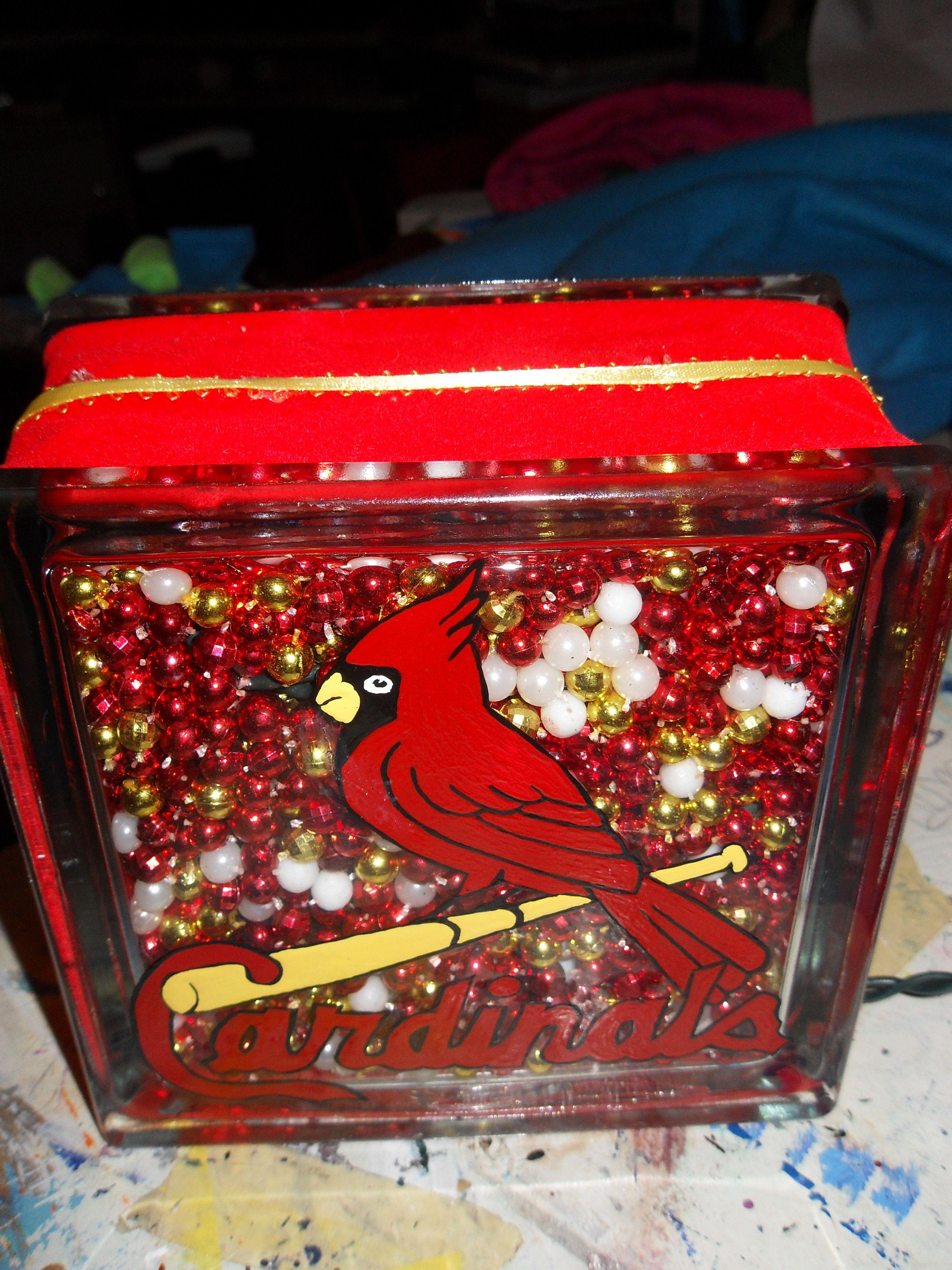 St Louis Cardinals Glass Block St Louis Cardinals Baseball