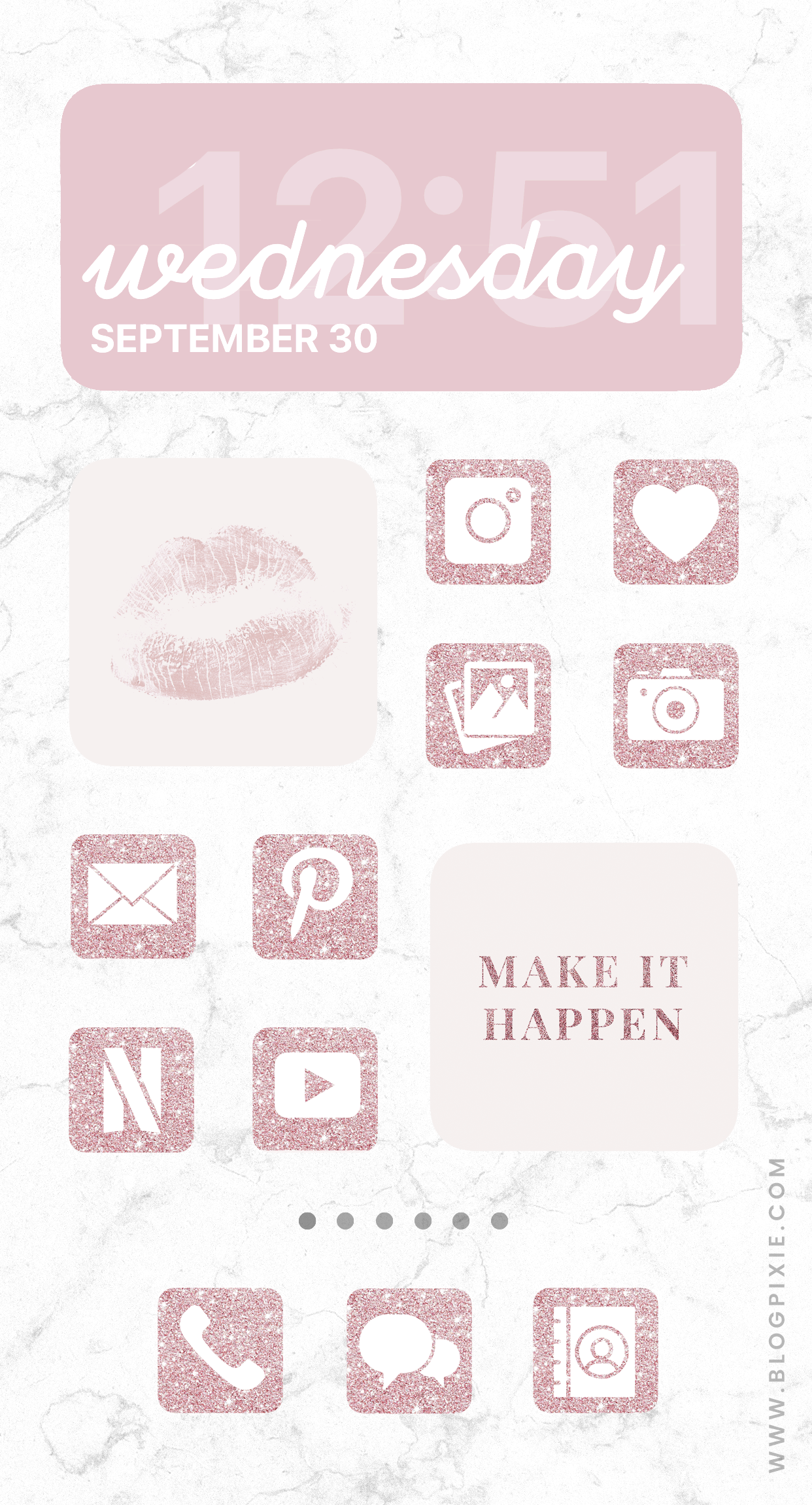 App Icons Aesthetic Pink Glitter In 2020 Cute App Wallpaper Iphone Christmas App Icon