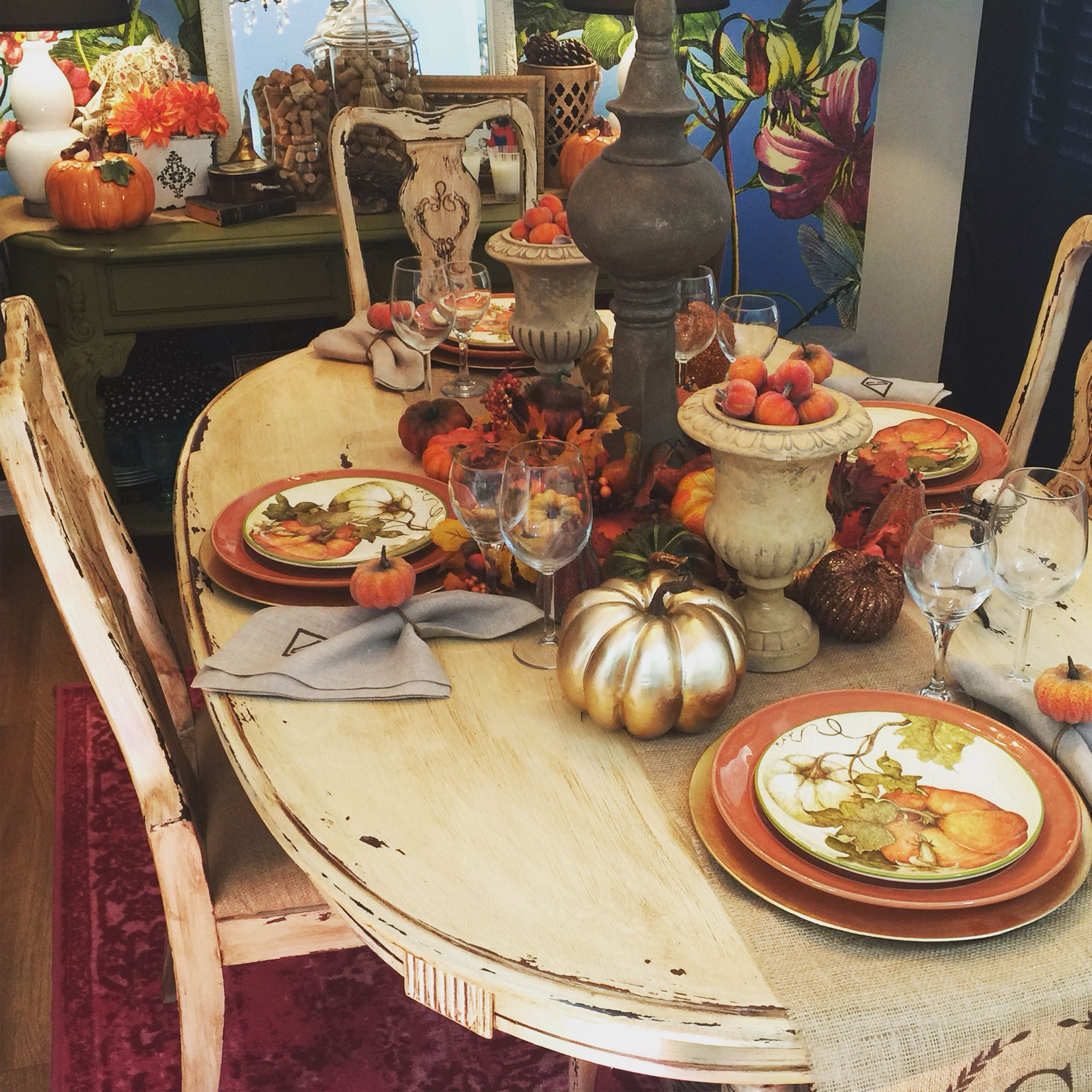 Fall 2016 tablescape   Tablescapes, Home decor, Table settings