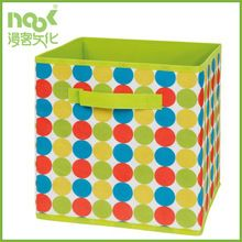 Spot printing decorate storage box with front handle